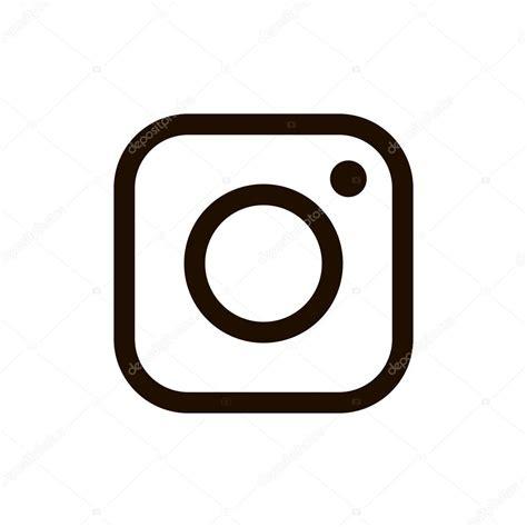 black instagram new instagram logo black color isolated on white
