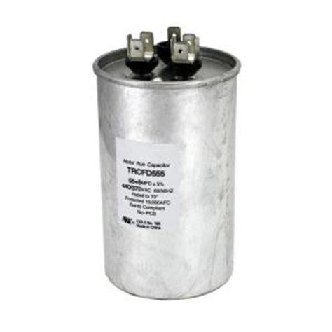run capacitor home depot packard 440 volt 55 5 mfd dual motor run capacitor trcfd555 the home depot