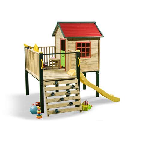 Swing Slide Climb Shangri La Multiplay Timber Playhouse