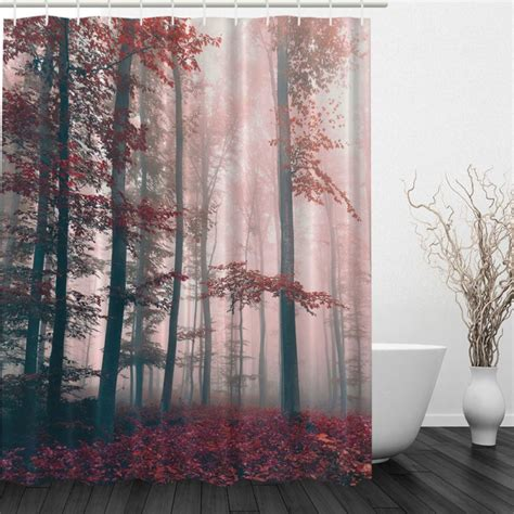 nature curtains waterproof fabric nature scenery bathroom shower curtain