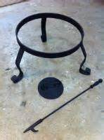 Wrought Iron Chiminea Stand Cast Iron Outdoor Heaters Or Outdoor Fireplaces