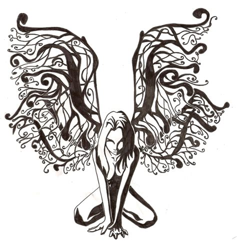black fairy tattoo designs design by saavke on deviantart