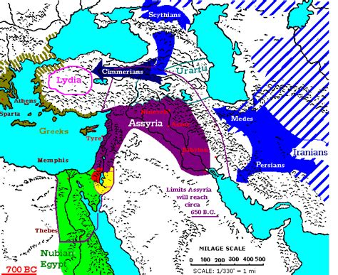 middle east map bc 700 600 bc