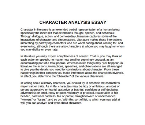 thesis about character education character analysis template scripture journal character