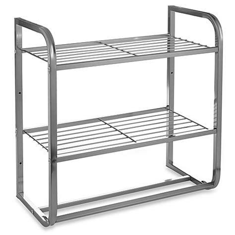 bed bath and beyond bar buy 2 tier satin nickel shelf with towel bars from bed