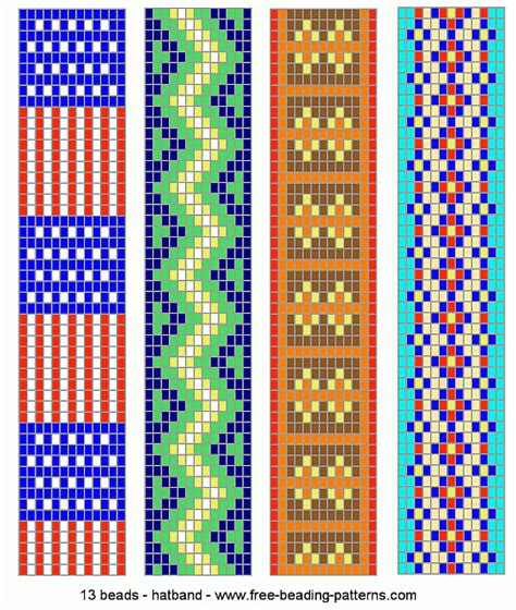 loom bead patterns hatband loom beadwork 015