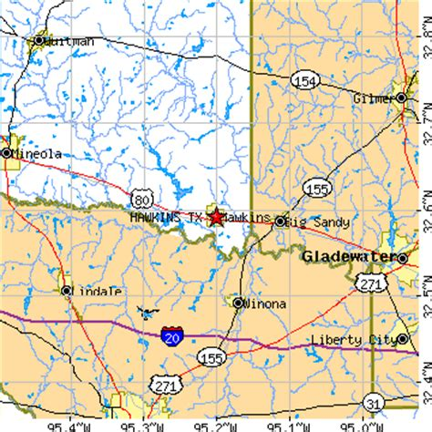 hawkins texas map hawkins texas tx population data races housing economy