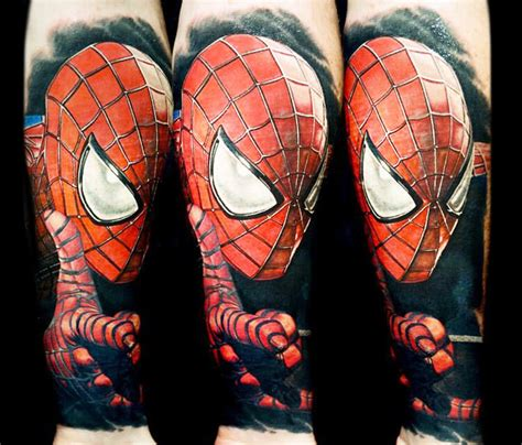 spiderman portrait tattoo by nikko hurtado no 117
