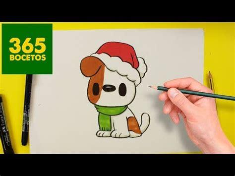 imagenes de dibujos de navidad kawaii como dibujar perros