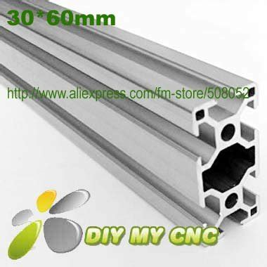 Aluminium Profile Extruder 3060 6000 Mm 6 Meter length l1500mm 30mm 60mm aluminum profile d 8 3060 aluminum extrusion for cnc router bed plate