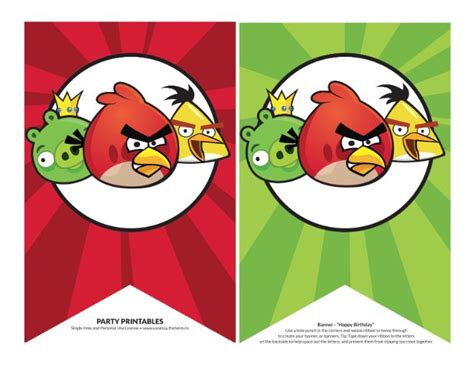 printable angry birds happy birthday banner banners angry birds bing im 225 genes angry bird