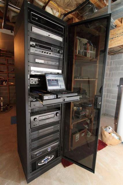 Home Av Rack by 1 Sound Choice A V Racks Traditional Home Theater New York By 1 Sound Choice