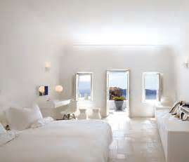 white bedroom decor santorini large white bedroom with balcony and view