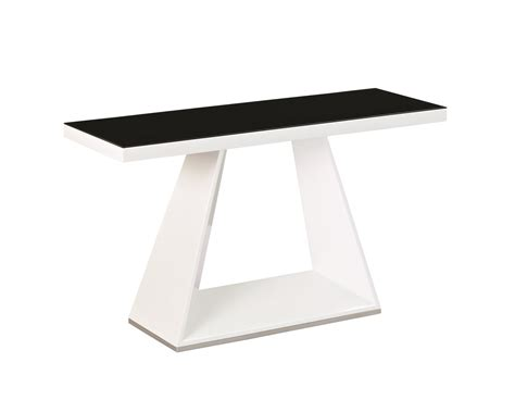 Black Gloss Console Table White High Gloss Black Glass Console Table Homegenies