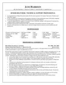 Help Desk Team Leader Sle Resume by Help Desk Resume Objective Sle Http Jobresumesle 795 Help Desk Resume Objective