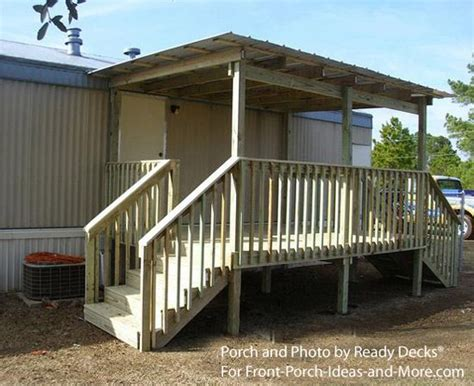 Mobile Home Sheds by Mobile Home Porch With Shed Roof Mobile Home