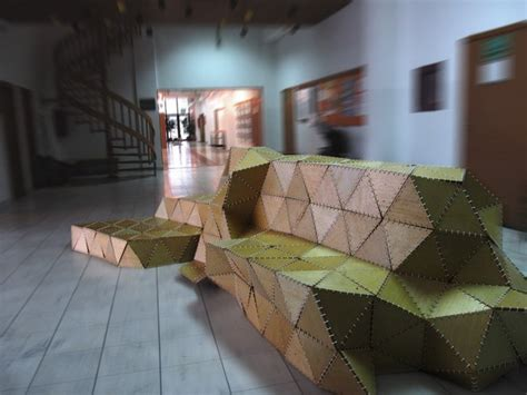 Origami Forum - sculptural seating unit inspired by the of origami