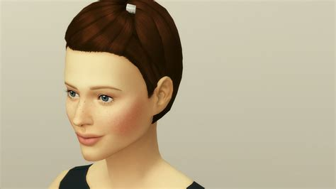 my sims 4 blog half back accessory hair bow by my sims 4 blog medium clipped back hair edit for females