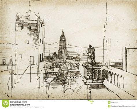 Five Minute Sketching Architecture croquis de paysage urbain photo libre de droits image