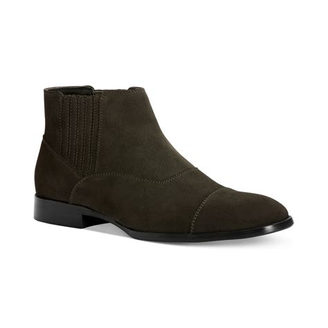 klein boots calvin klein cecil slipon boots in gray for