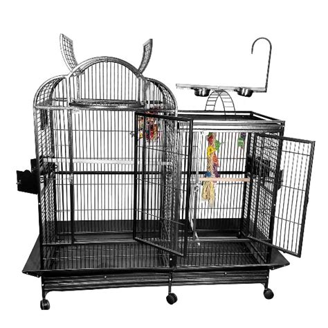 cage with divider divided bird cage split level with divider by ae pc 4226d black 19301061017k 899 00