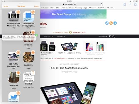Top Shelf App by Shelf Apps A Roundup Of The Best Macstories