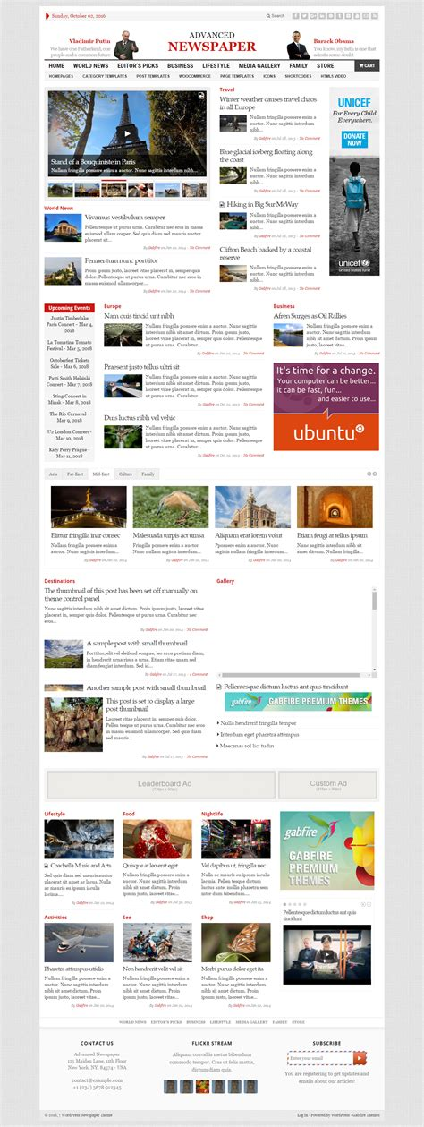 theme advanced newspaper advance newspaper a premium blog magazine business