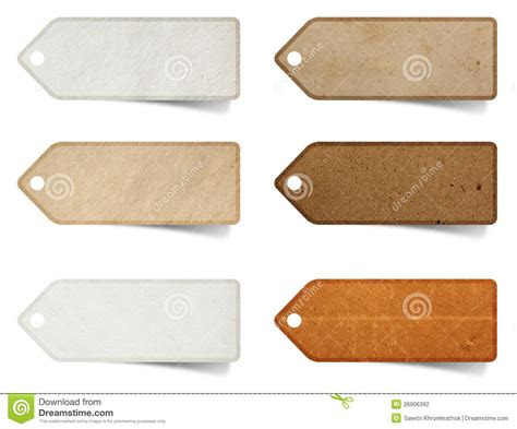 craft paper tags tag paper craft stick stock photography image 26906392