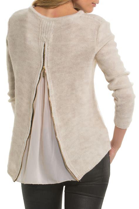 Sweater Hoodie Jumperzipper Georsia elan zipper back sweater from bucktown by havlan west shoptiques