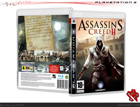 amazoncom assassins creed playstation 3 artist not assassin s creed ii playstation 3 box art cover by mark inou