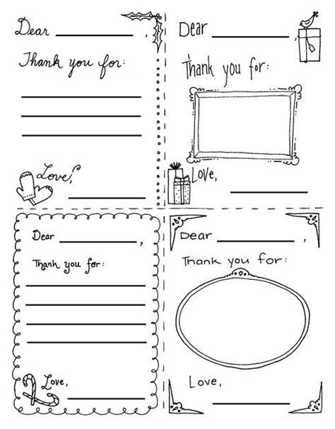thank you card template 5 5 x 8 5 36 best printable thank you notes images on