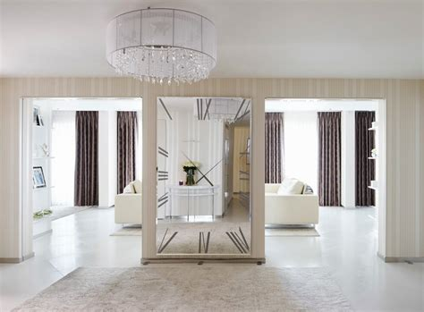 Clock design ideas hall contemporary with entrance hall entry hall polished white floor tile