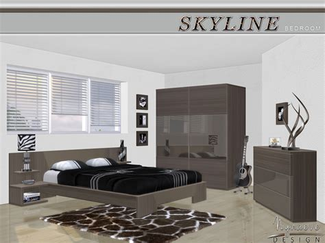 skyline bedroom by nynaevedesign at tsr 187 sims 4 updates