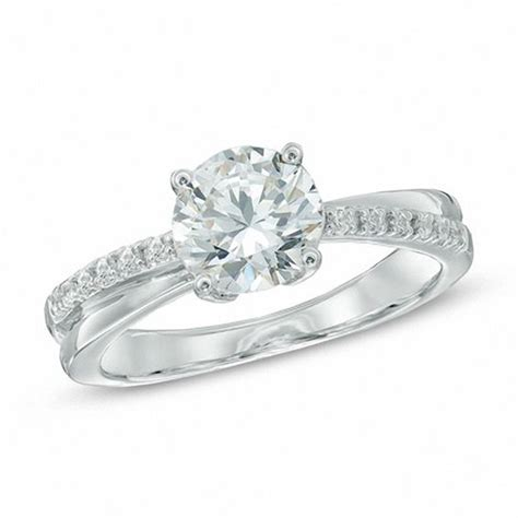7 0mm lab created white sapphire engagement ring in