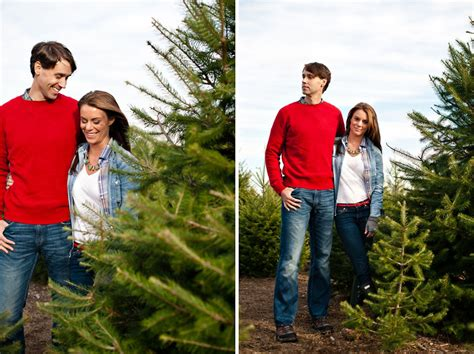 christmas tree farm photography ct tree engagement shoot ct