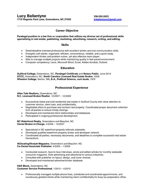 assistant resume objective pleasing resume objective for on paralegal