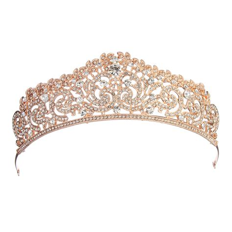 rose tiara party favours bags rose gold crystal wedding bridal