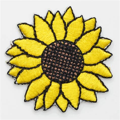sunflower patch sunflower iron on applique patch joyce trimming