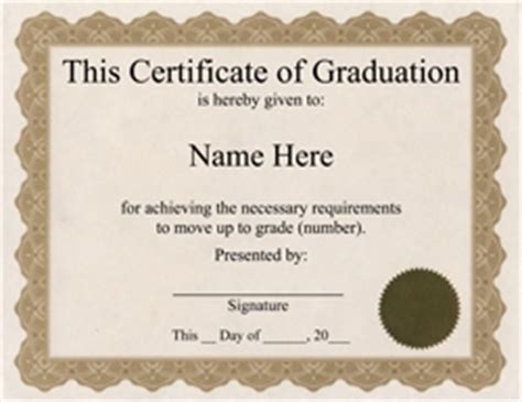 graduation certificate template word awards certificates free templates clip wording