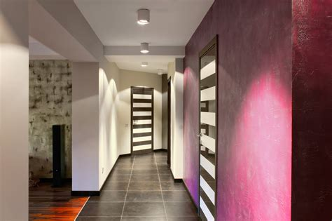 hallway ceiling lights modern with black and white