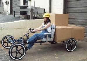 Wheels Truck Bike Flat Bed Cargo Bike Handlebar Steering Wheel Black Mag