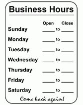 4 best images of free printable business hours sign christmas opening hours template best business template