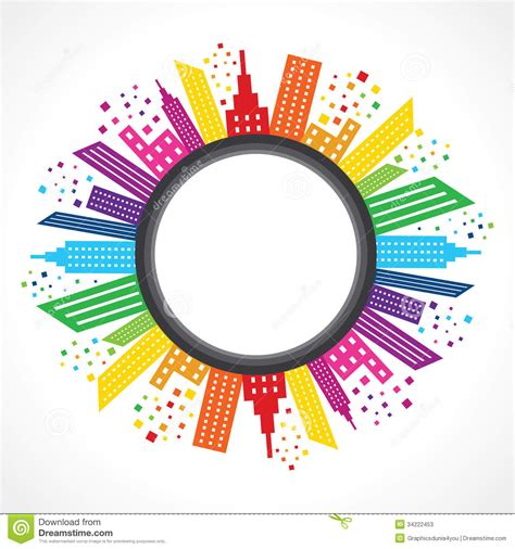 design picture abstract colorful real estate background design stock
