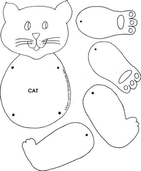 printable animal crafts printable felt animal patterns cat cat puppet things