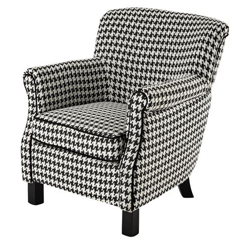 Black White Armchair Cotton Armchair In Black White Houndstooth Pattern Coco
