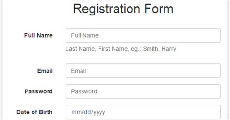 bootstrap tutorial register form bootstrap 3 forms tutorial