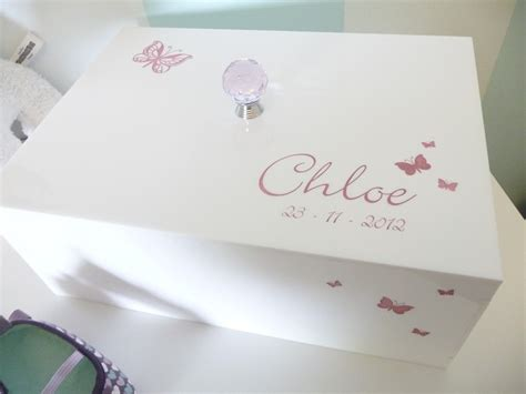 personalised baby memory keepsake box forever yours - Wedding Keepsake Box Australia