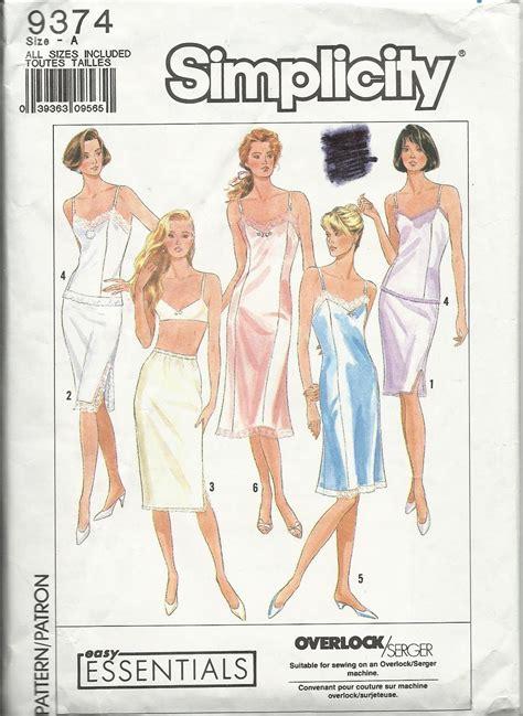 30510 The Retro Pattern S M L Xl Dress Simplicity 9374 Pattern Camisole Half Whole Slip P S M L