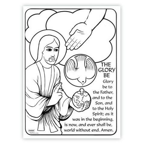 glory be prayer coloring page google search prayers