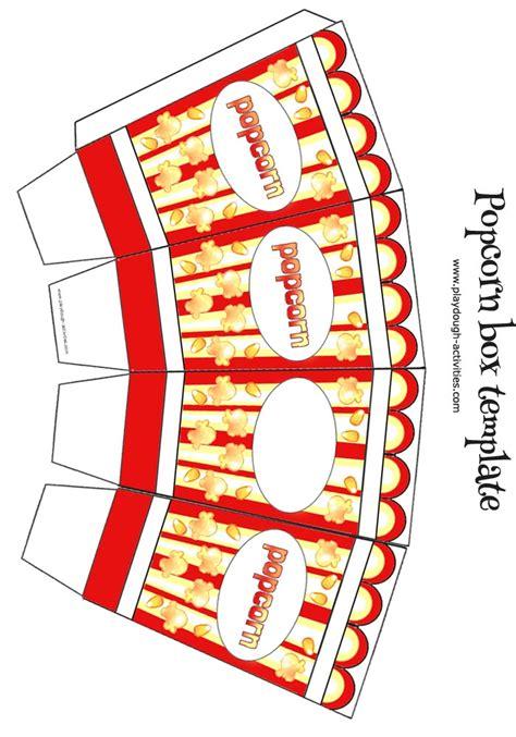 popcorn container template popcorn box template small colour template